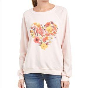 WILDFOX Blooming Hearts Sweatshirt New Small